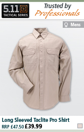 5.11 Tactical Long Sleeved Taclite Pro Shirt