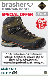 Brasher Ahklun GTX Mens Boot - Grey/Black