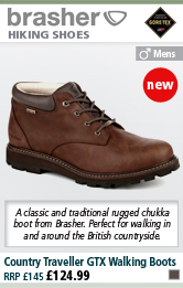 Brasher Country Traveller GTX Walking Boots (Men's) - Quest Brown
