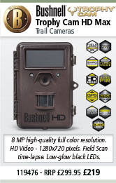 Bushnell 119476 Trophy Cam HD MAX Trail Camera