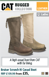 CAT Bruiser Scrunch Hi Womens Casual Boot