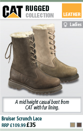 CAT Bruiser Scrunch Lace Womens Casual Boot