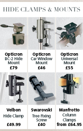 Hide clamps and mounts
