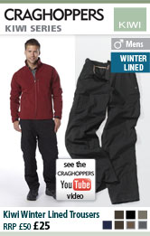 Mens Kiwi Winter Lined Trousers