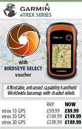 Garmin eTrex 20 and eTrex 30 with BirdsEye Select Voucher