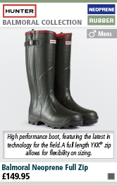 Hunter Balmoral Neoprene Full Zip Wellington Boots