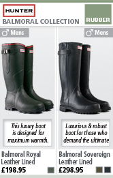 Hunter Balmoral Royal and Balmoral Sovereign Wellington Boots
