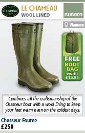 Le Chameau Chasseur Fouree Womans Wellington Boots