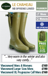Le Chameau Vierzonord Wellington Boots with FREE Boot Bag