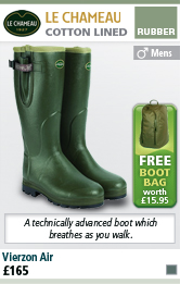 Le Chameau Vierzon Air Mens Wellington Boots with FREE Boot Bag