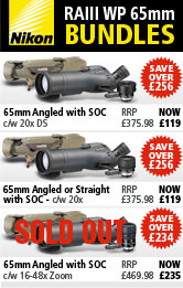Nikon RAIII WP 65mm Spotting Scope Bundles
