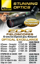 Nikon EDG Fieldscopes with Eyepieces and Stay on Case