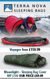 Terra Nova Voyager and Moonlight Sleeping Bags