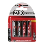 Ansmann AA Size - 4 x 2700mAh - Global Line NiMH Rechargeable Batteries