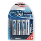 Ansmann AA Size - 4 x 2700mAh - Digital NiMH Rechargeable Batteries