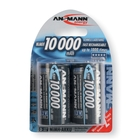 Ansmann D Size - 2 x 10000mAh - NiHM Rechargable Batteries