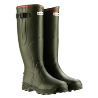 Hunter Balmoral Bamboo Carbon Wellington Boots (Unisex) - Dark Olive