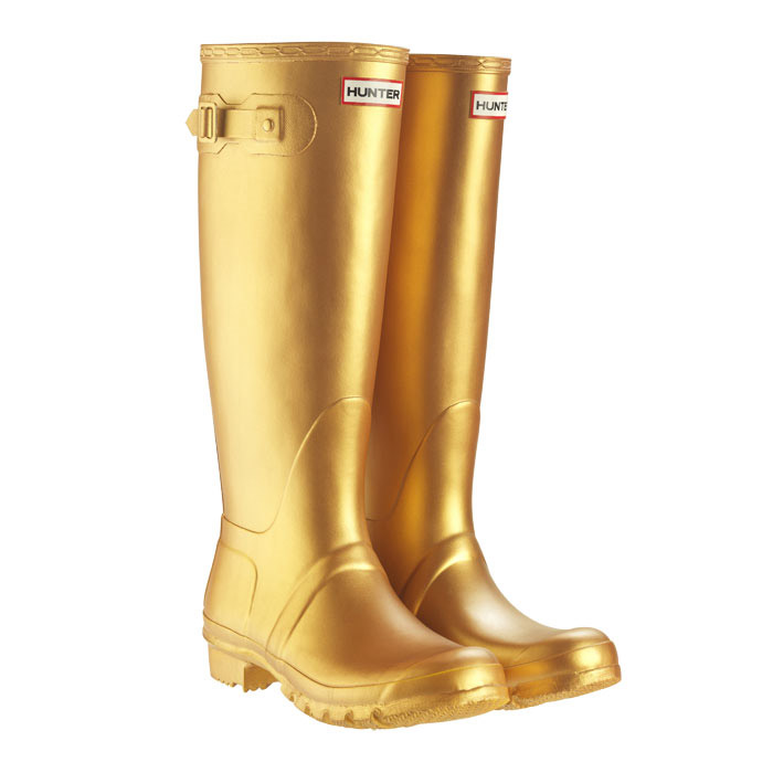 Gold Wellington Boots