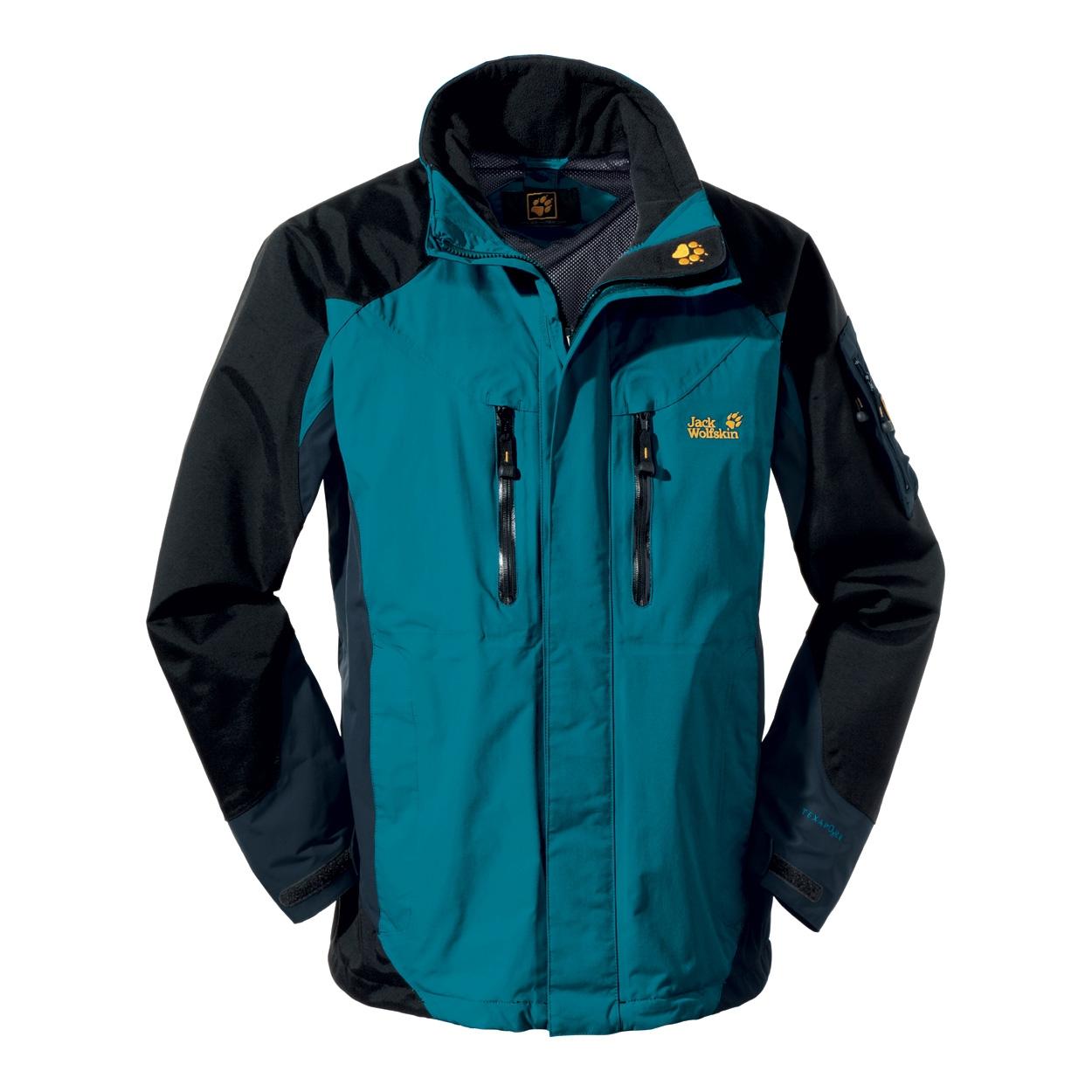 jack wolfskin mens all terrain jacket baltic blue. Black Bedroom Furniture Sets. Home Design Ideas