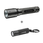 LED Lenser P5 Twin Pack with FOC K2 Torch