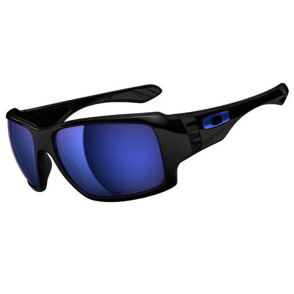 Oakley Big Taco Sunglasses - Polished Black / Ice Iridium ...
